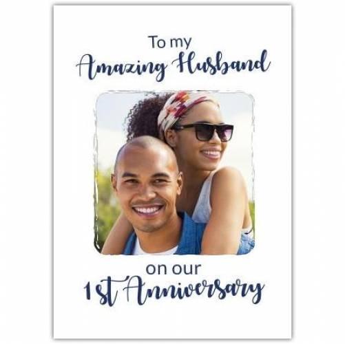 Happy Anniversary White Background  Card