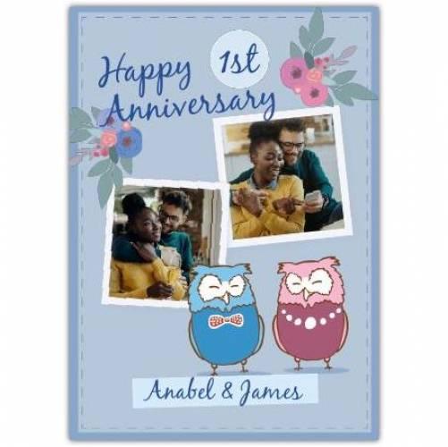 Happy Anniversary 2 Owls  Card