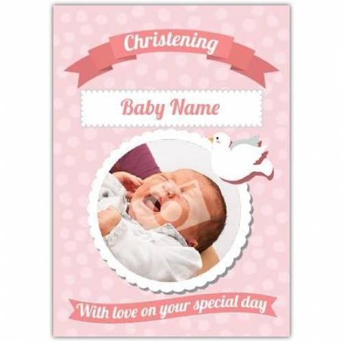 Christening Baby Girl Card