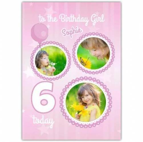 Happy Birthday Stars And Balloons  Card