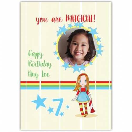 Happy Birthday You Are Magical Card