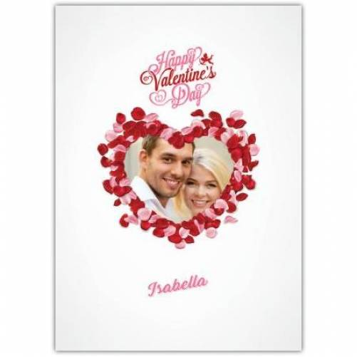 Happy Valentines Day Big Heart Made From Smaller Hearts Card