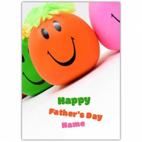 Happy Father's Day Smiley Orange Face Card