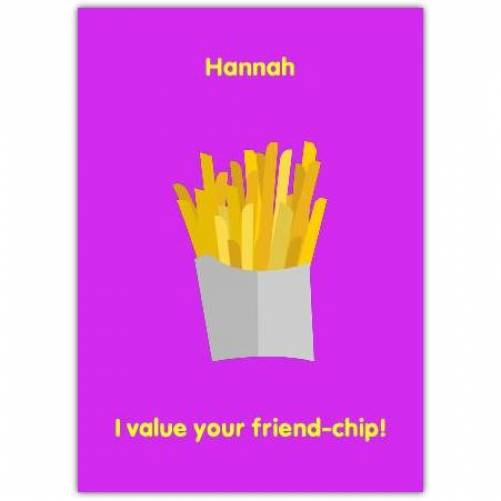 Chips Humor Card