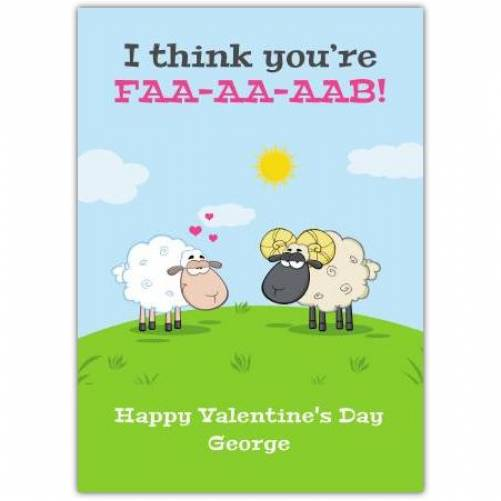 Happy Valentines Day Sheep Humor Card