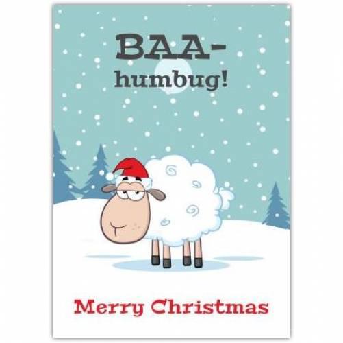 Merry Christmas Sheep Humor Card