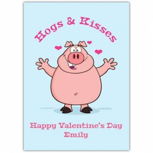 Happy Valentines Day Pig Humor  Card