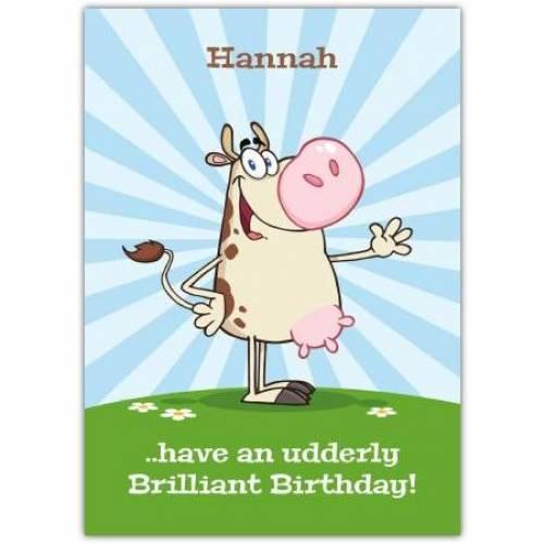 Happy Birthday Cow Humor Card