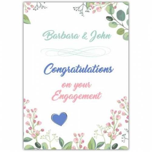Congratulations On Your Engagement Pretty Flowers Card