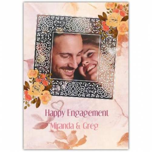 On Your Engagement One Frame  Card