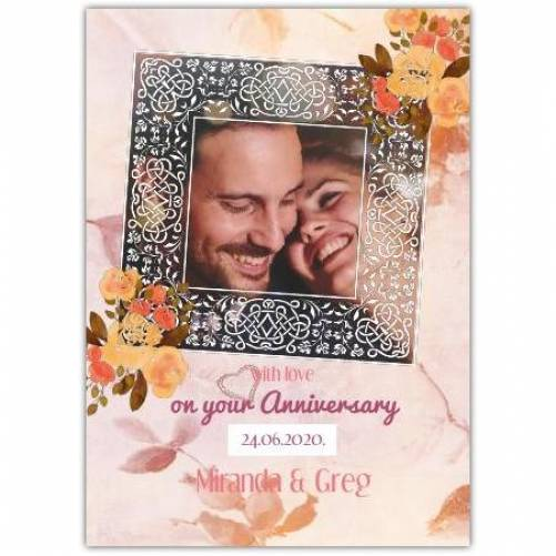 On Your Anniversary One Frame Card