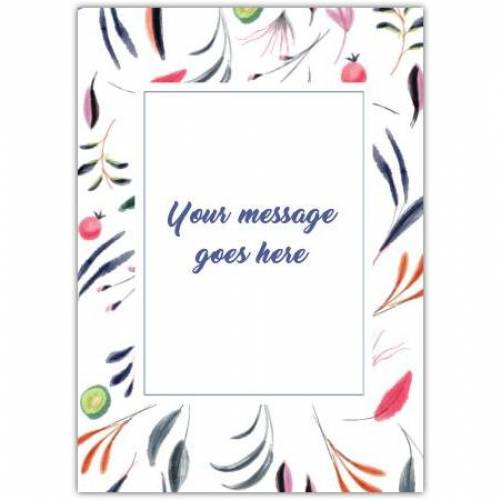Any Message Colourful Frame Card