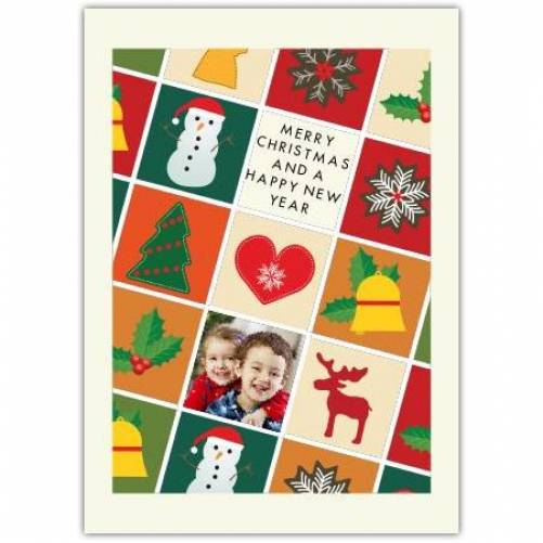 Happy Christmas And A Happy New Year Christmas Icons  Card