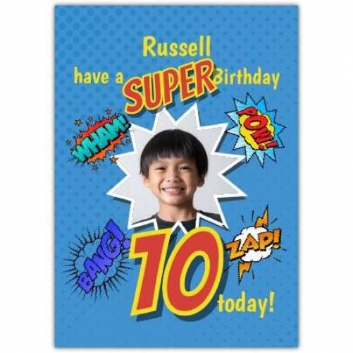 Happy Birthday Cartoon Explosions  Card
