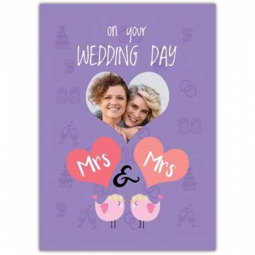 On Your Wedding Day Mrs & Mrs Card