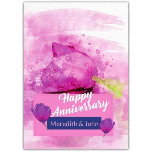 Happy Anniversary Pink Tulips  Card