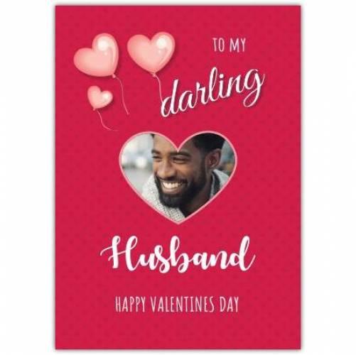 To My Darling Husband Pink Hearts Card