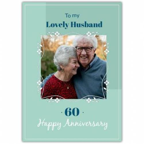 To My Lovely Husband Happy Anniversary  Card