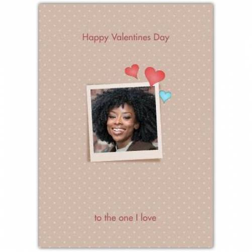 Happy Valentines Day One Small Frame  Card