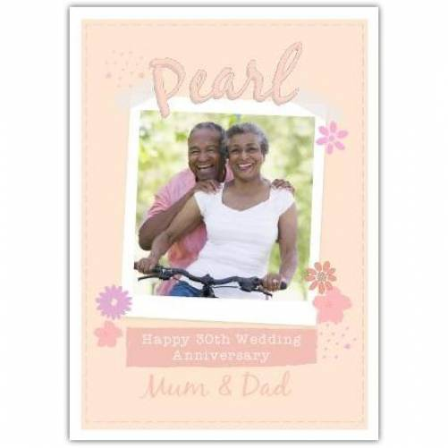 Pearl Anniversary Pastel Colours Card