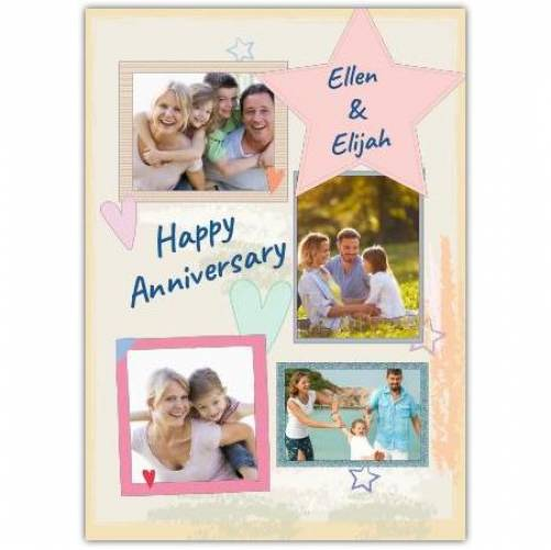 Happy Anniversary Photo Upload  Card