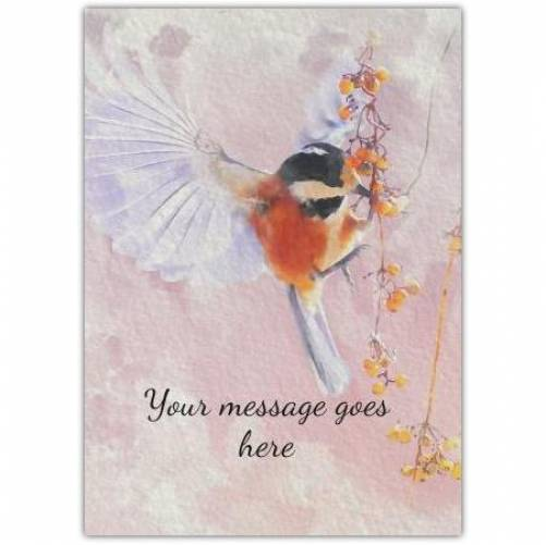 Any Message Watercolour Bird Card