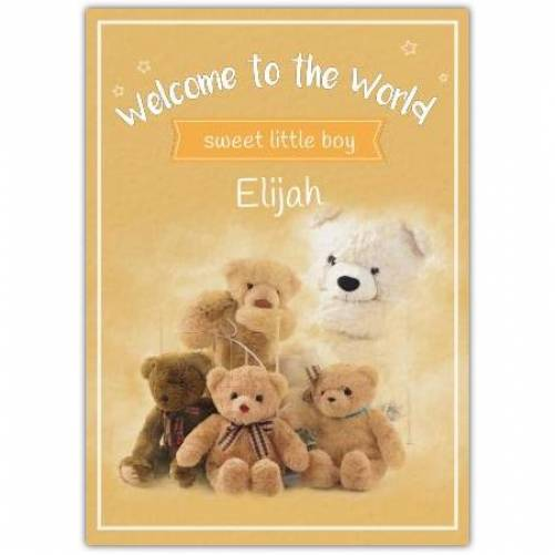 Welcome To The World Sweet Little Baby  Card